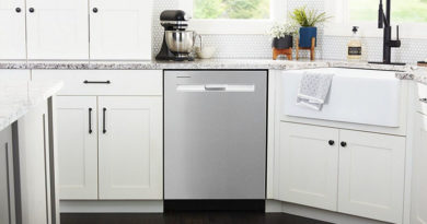 White Magnetic Dishwasher Cover
